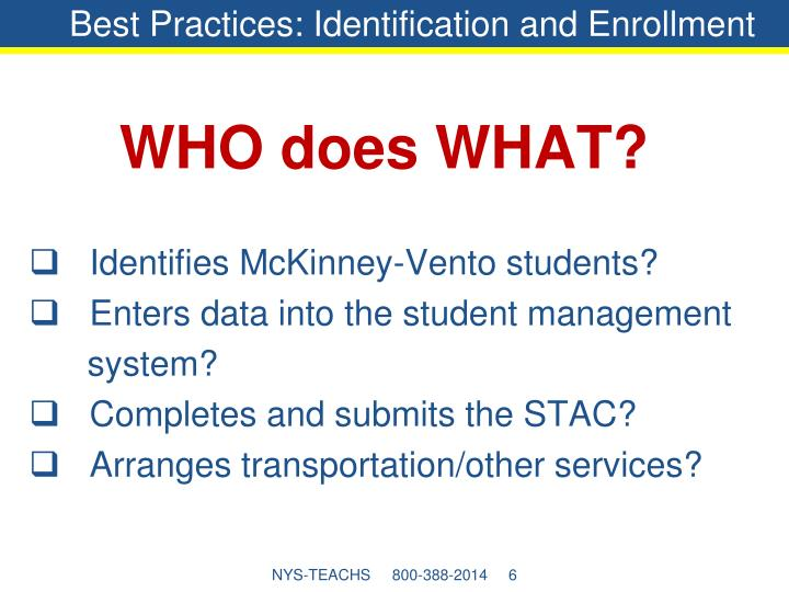 Best Practices: Identification and Enrollment