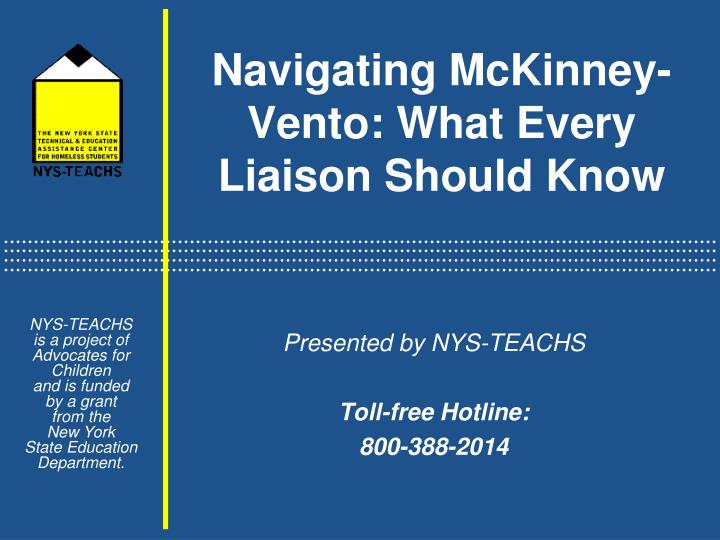 Navigating mckinney vento what every liaison should know