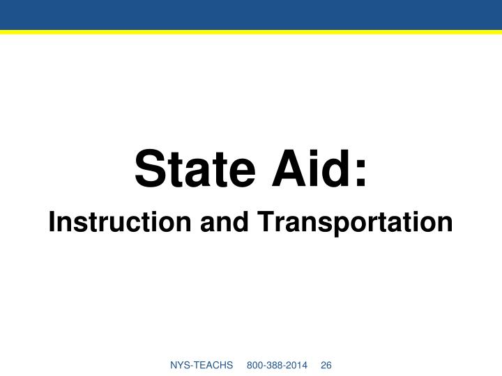 State Aid: