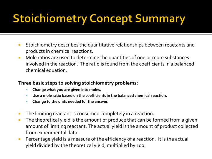 how to do stoichiometry step by step pdf