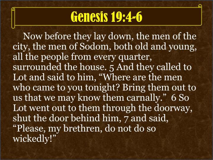 Genesis 19:4-6