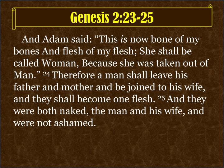 Genesis 2:23-25