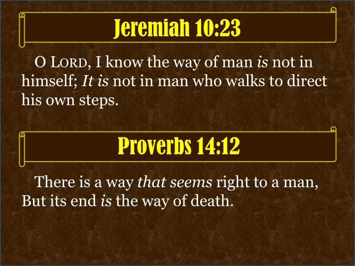 Jeremiah 10:23