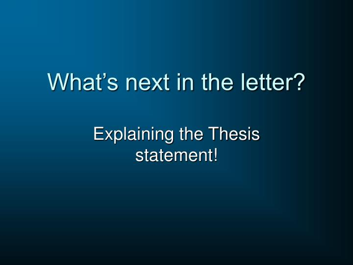 What's next in the letter?