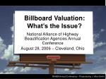 billboard valuation what s the issue