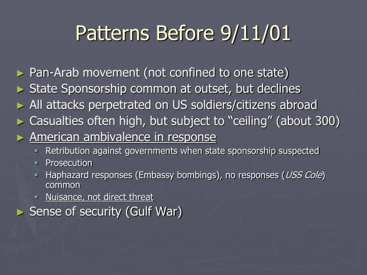 Patterns Before 9/11/01