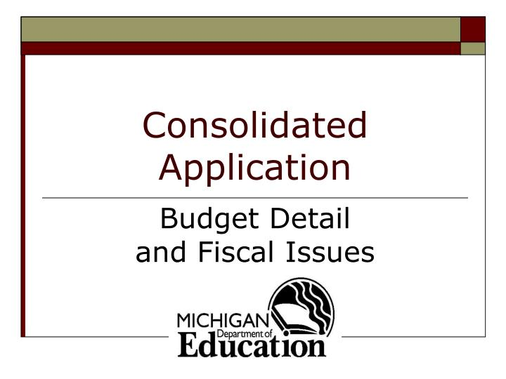 consolidated application n.