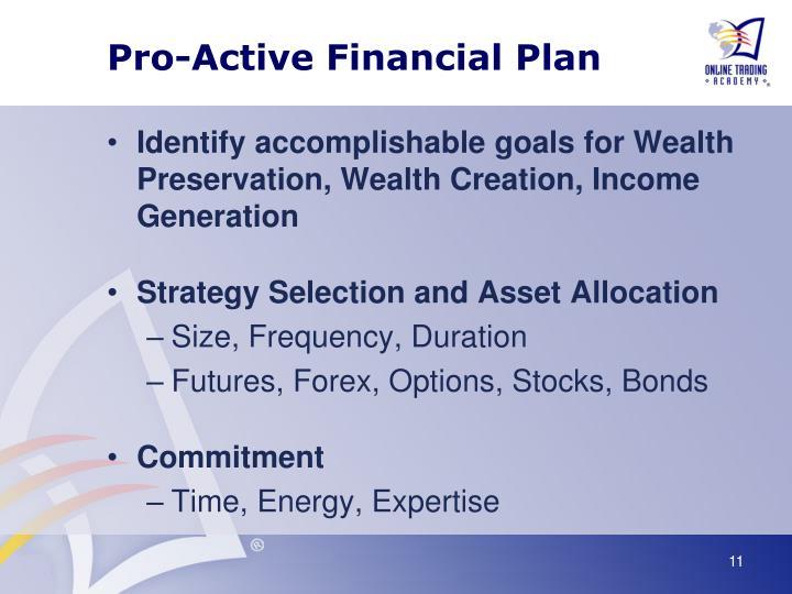 Pro-Active Financial Plan