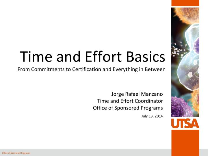 time and effort basics from commitments to certification and everything in between n.