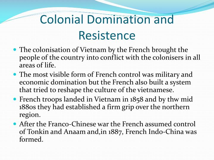 Chasteen s view of colonial domination