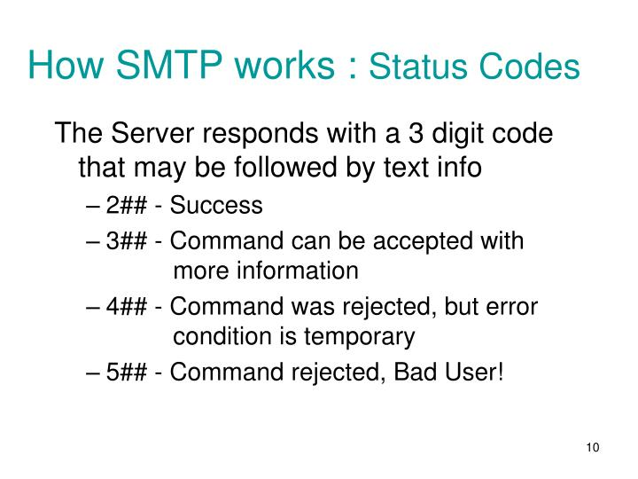 How SMTP works :