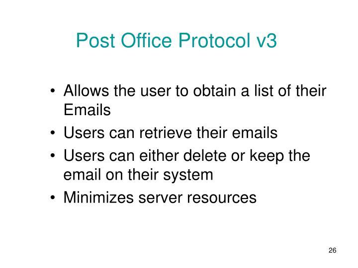 Post Office Protocol v3