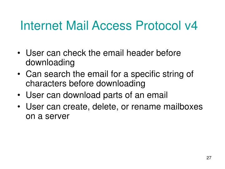 Internet Mail Access Protocol v4