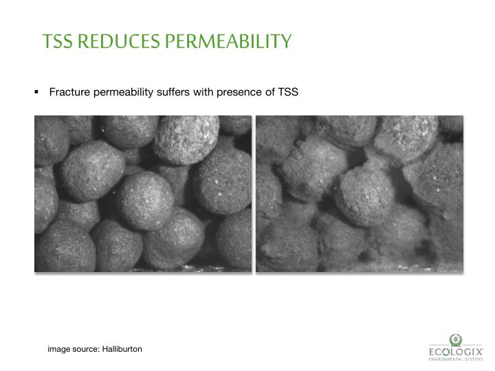 TSS REDUCES PERMEABILITY
