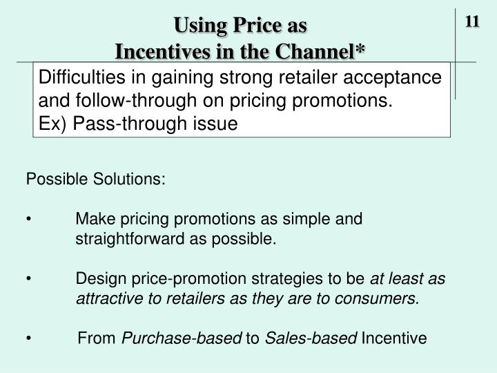 Using Price as