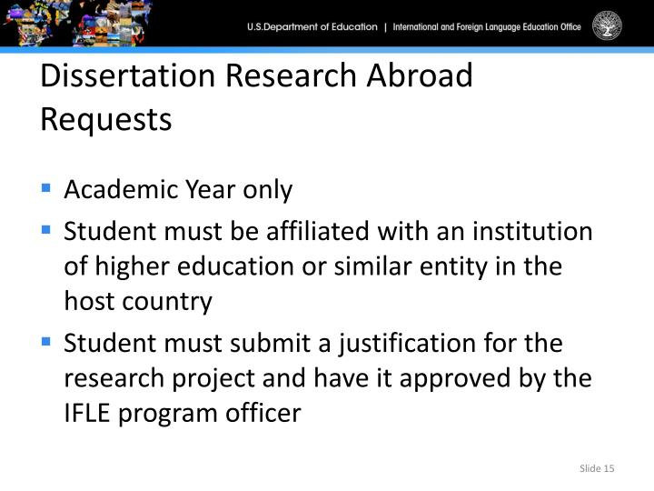 doctoral dissertation research program Doctoral dissertations in musicology (ddm) is an international database of the fulbright-hays doctoral dissertation research abroad fellowship program provides opportunities for doctoral candidates to engage in full-time dissertation section information for spring 2017.