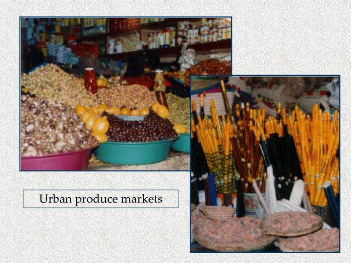 Urban produce markets