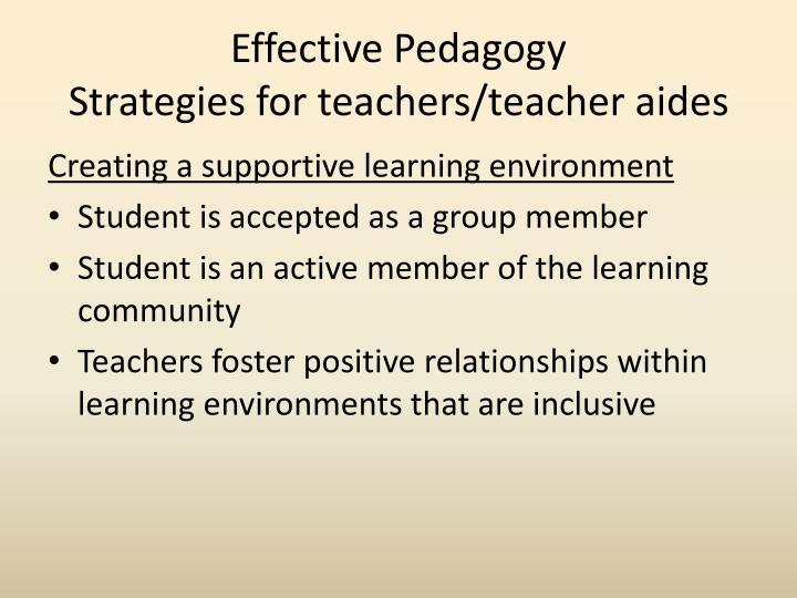 Effective Pedagogy