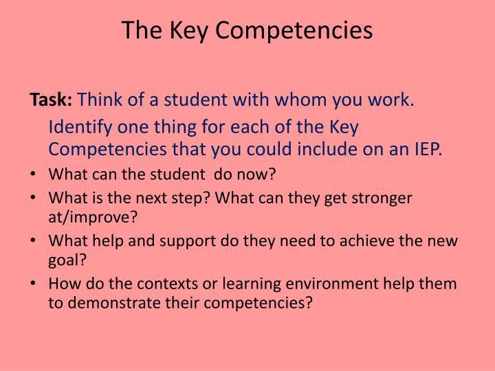 The Key Competencies