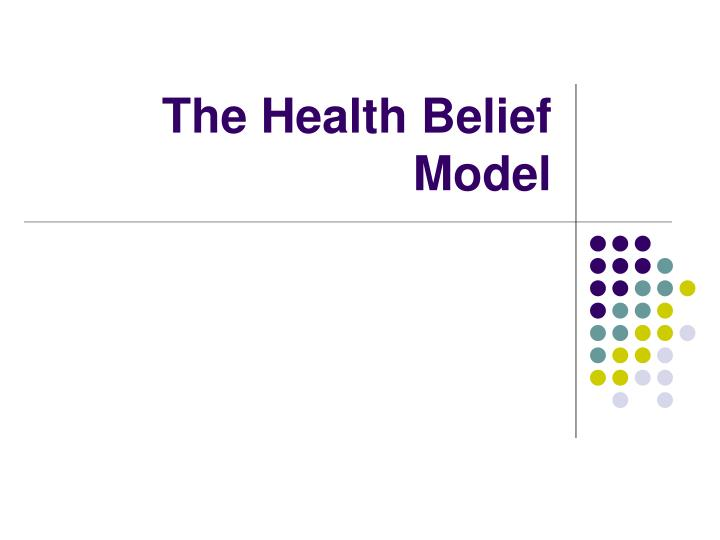 the health belief model n.