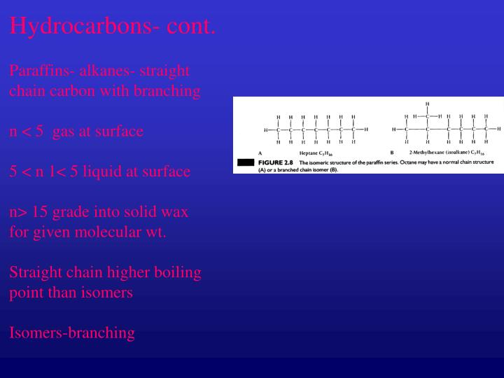 Hydrocarbons- cont.