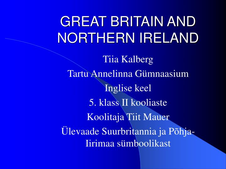 great britain and northern ireland n.