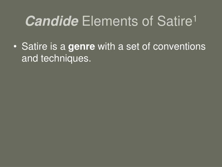 Ppt Candide Elements Of Satire 1 Powerpoint Presentation Free