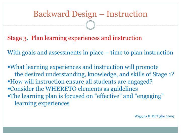 Backward Design – Instruction