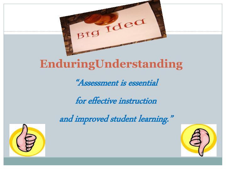 Enduringunderstanding