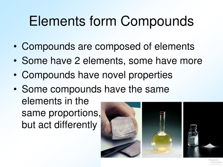 Elements form Compounds