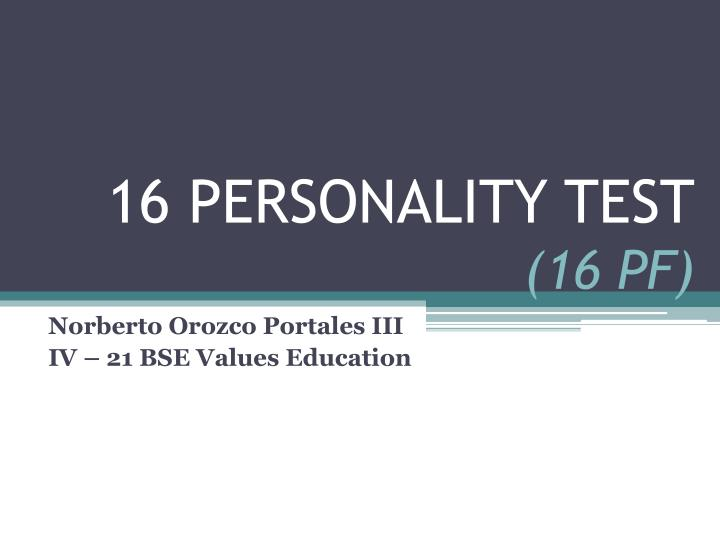 16 personality test 16 pf n.
