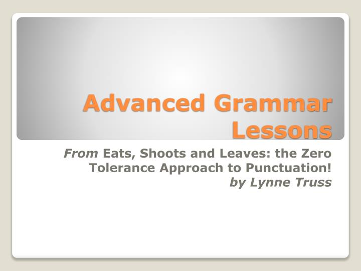 advanced grammar lessons n.