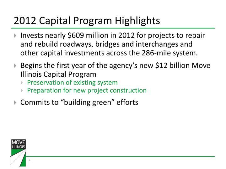 2012 Capital Program Highlights