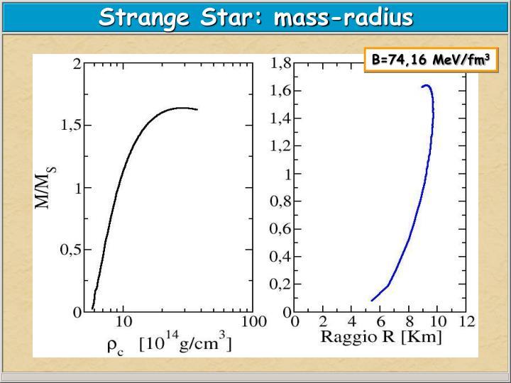 Strange Star: mass-radius
