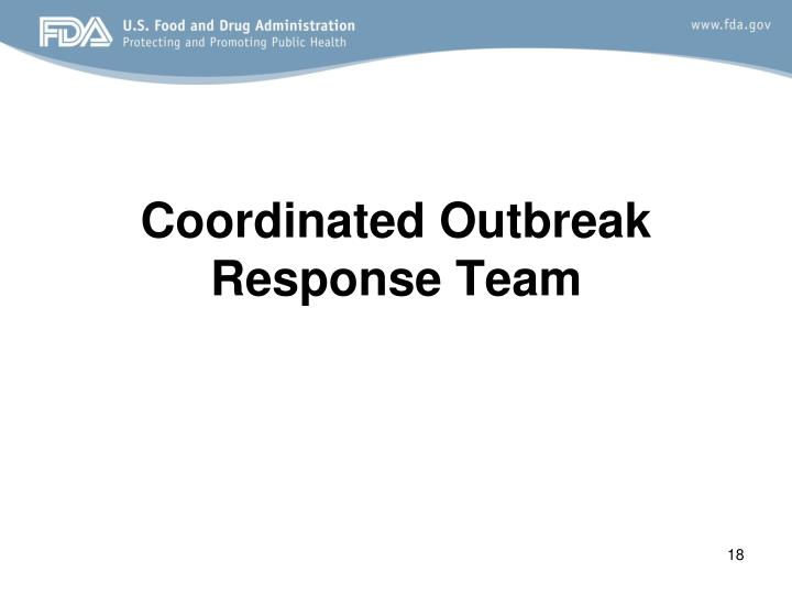 Coordinated Outbreak Response Team