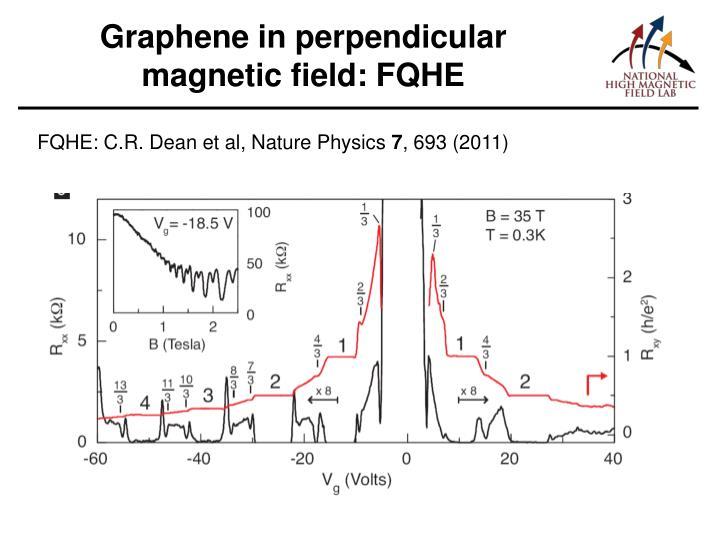 Graphene in perpendicular magnetic field: FQHE