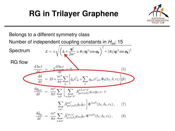 RG in Trilayer Graphene