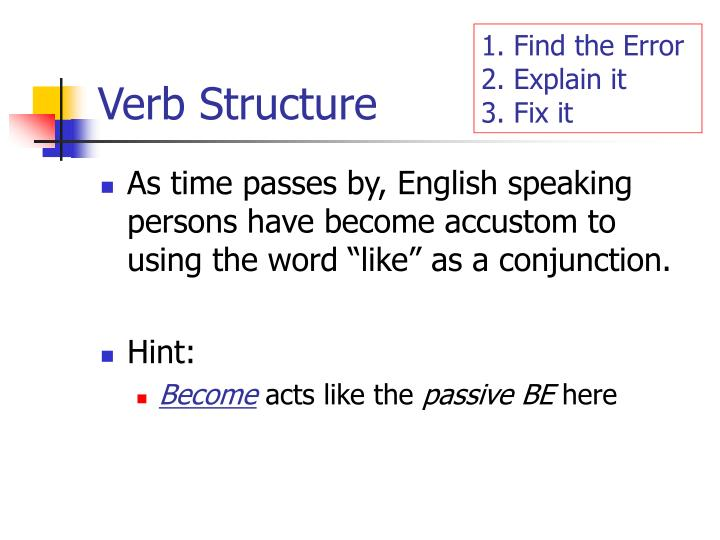 Verb Structure