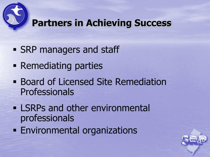 Partners in Achieving Success