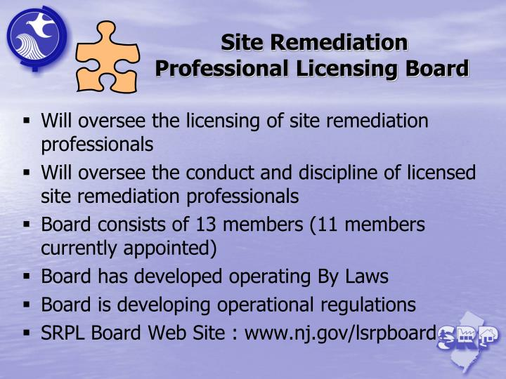 Site Remediation Professional Licensing Board