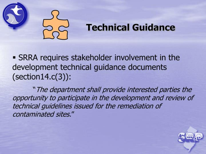 Technical Guidance