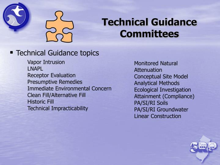Technical Guidance Committees