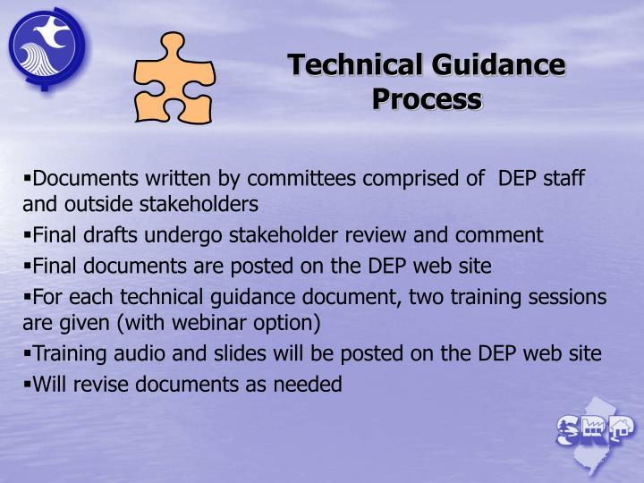 Technical Guidance Process