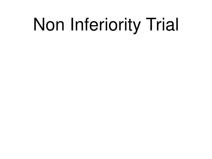 non inferiority trial n.