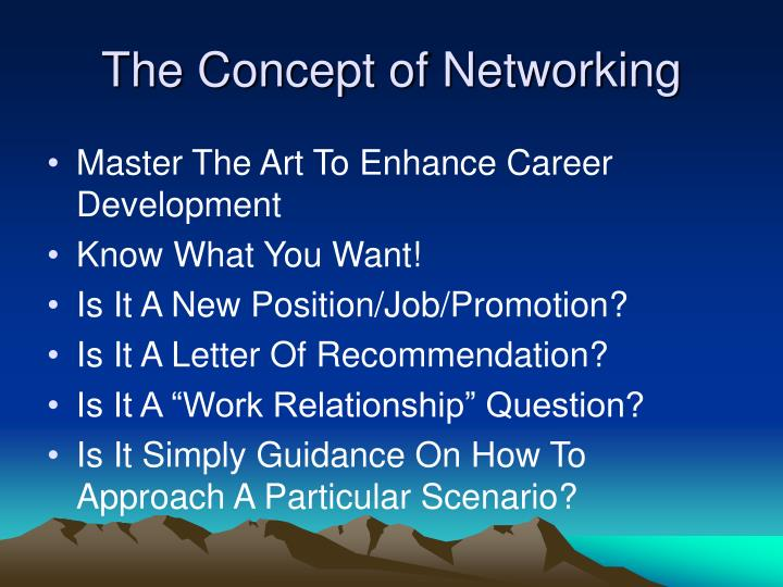 The Concept of Networking