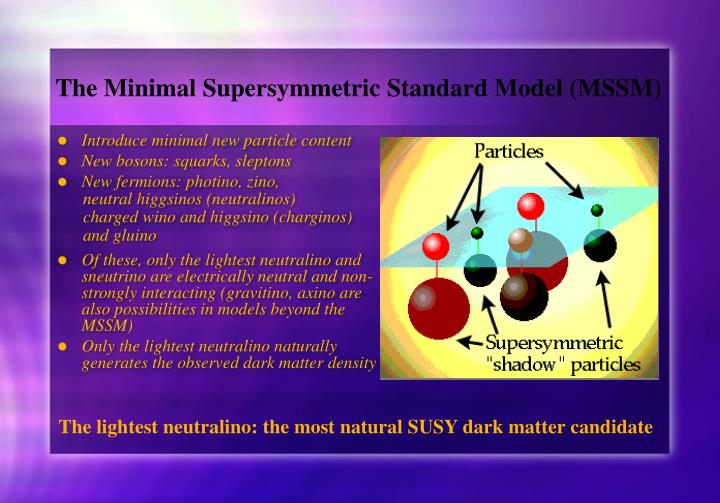 The Minimal Supersymmetric Standard Model (MSSM)