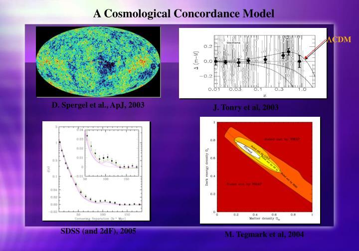 A Cosmological Concordance Model