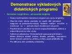 demonstrace v kladov ch didaktick ch program2