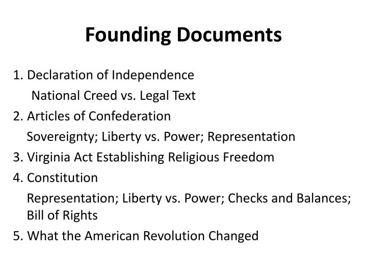 Founding documents