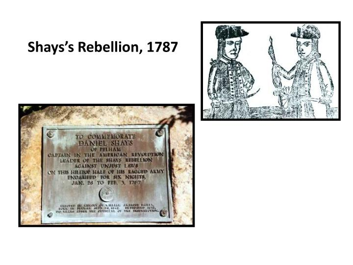 Shays's Rebellion, 1787